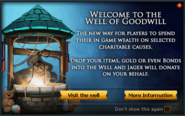 Well of Goodwill popup