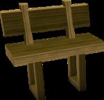 Wooden bench built