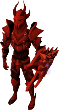 Dragon plate armour set (lg) equipped