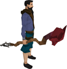 Dragon staff equipped