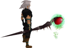 Noxious staff equipped