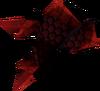Red dragonhide vambraces detail