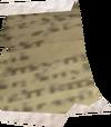 Torn grimoire page detail