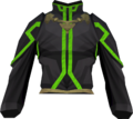 First tower robe top (green) detail.png