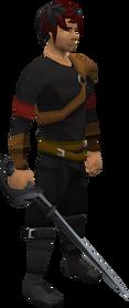 Primal rapier equipped