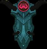 Rune kiteshield (Zamorak) detail