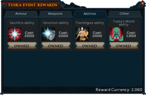 Tuska Event Rewards (Abilities)