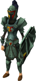 Adamant heraldic armour set 5 (sk) equipped