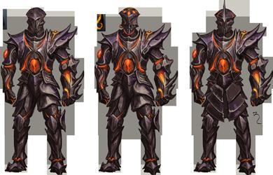BoE Obsidian armour artwork