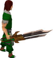 Dwarven longsword equipped