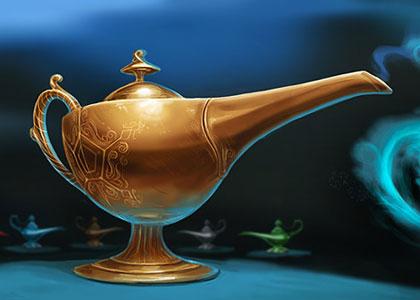 Lamp of the Djinn concept art