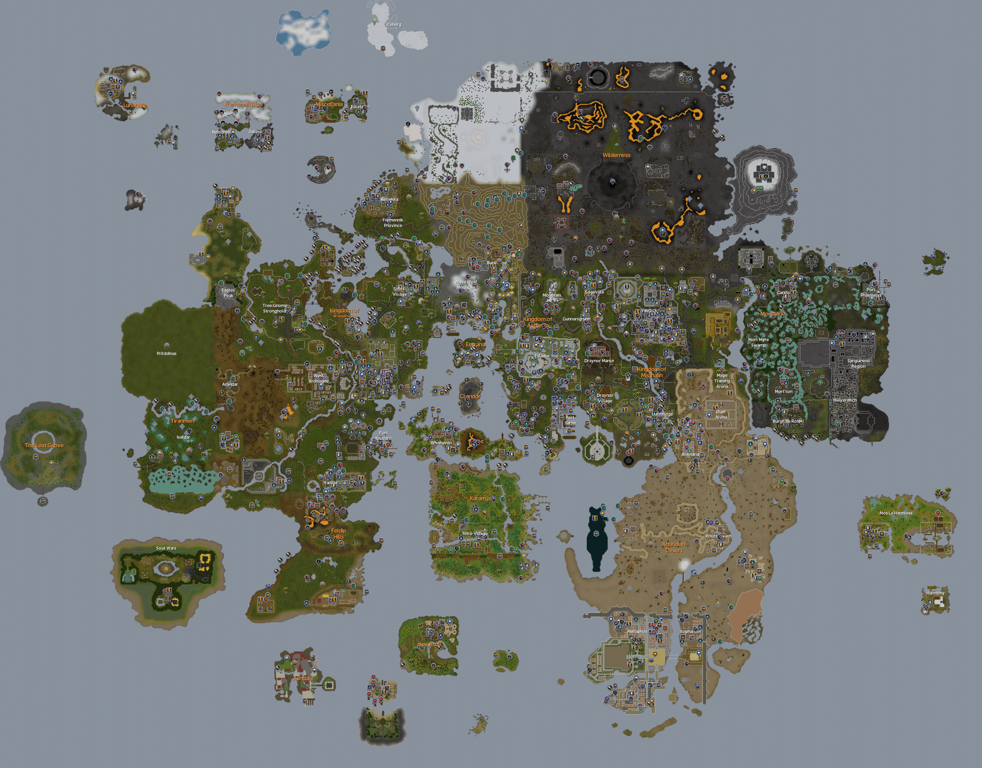 Map:World map | RuneScape Wiki | FANDOM powered by Wikia