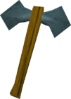 Rune battleaxe detail old
