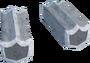Silver shield key detail