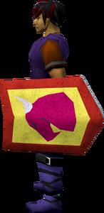 Steel kiteshield (Dragon) equipped