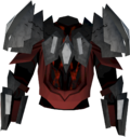 Tectonic robe top (blood) detail
