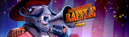 Balthazar's Big Raffle 2015 head banner