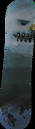 Snowboard (frosty) bottom detail