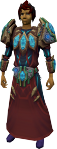 Augmented tectonic armour equipped
