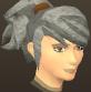 Female hair ponytail spiked