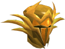 Golden warpriest of Zamorak helm chathead