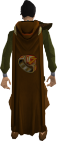Hooded dungeoneering cape equipped