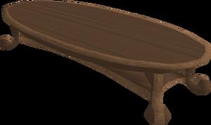Mahogany table built