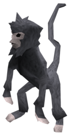 Monkey (blue and grey) pet