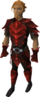 Red d'hide set equipped