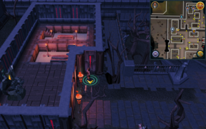 Scan clue Darkmeyer just outside building with Prayer altar