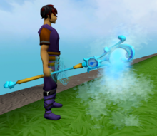 Staff of limitless water equipped