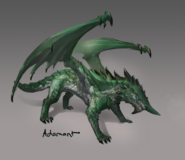 Adamant dragon concept art