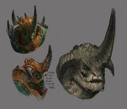 Bandos' face concept art