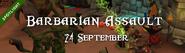 Barbarian Assault 24 September 2016