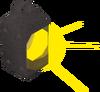 Bullseye lantern (lit) detail