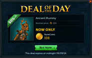 Deal of the Day - Ancient Mummy