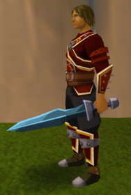 Off-hand rune ceremonial sword I equipped