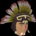 Samba headdress (red, male) chathead