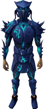 Sirenic armour set equipped