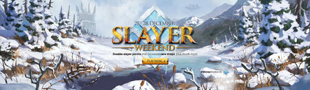 Slayer Winter Weekend head banner