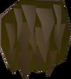 Cured yak-hide detail