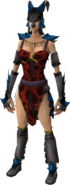Dragon wolf outfit equipped (female)