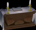 Mahogany altar built