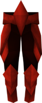 Perneiras de placa de dragão detalhe
