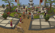 Wolf attack at varrock bank