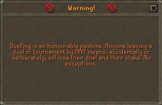Duel warning