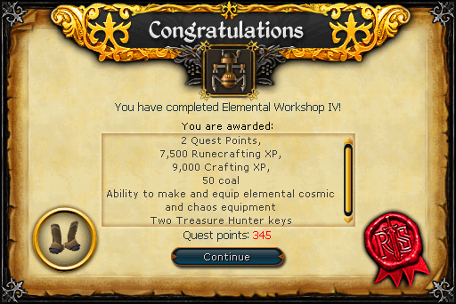 Elemental Workshop IV reward