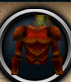 Fire warrior chestplate detail