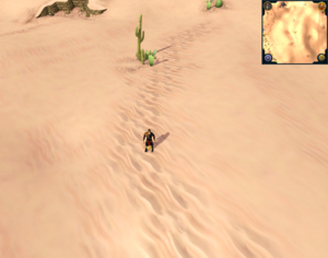 Scan clue Desert midway between Dominion Tower and Ruins of Uzer