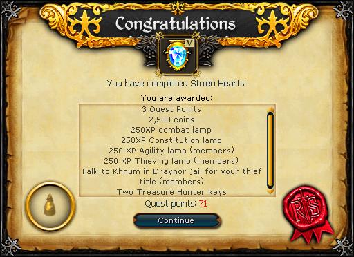 Stolen Hearts reward